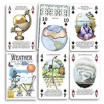 Weather Facts & Phenomena set of 52 playing cards (+ jokers)    (hpc)