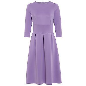 Love2Dress Baby Pink 3/4 Sleeve Midi Skater Dress UK SIZE 8