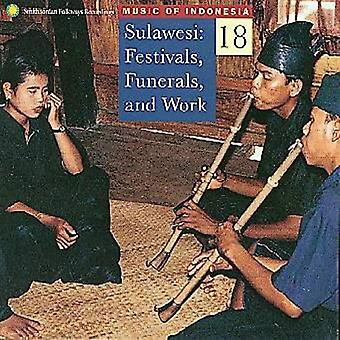 Music of Indonesia - Sulawesi Festivals Funerals & [CD] USA import