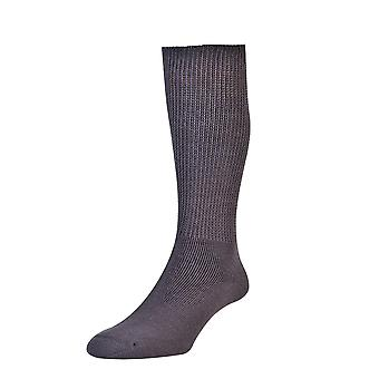 Mens Ladies HJ Hall Cotton DIABETIC Smooth Easy Fit Cushion Sock Hj1351