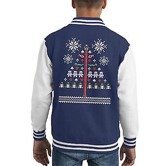 Betrieb Weihnachten Cod James Pong Stricken Muster Kid Varsity Jacket