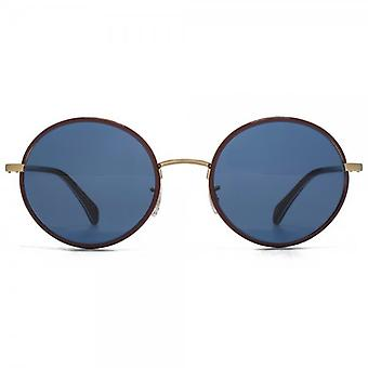 Paul Smith Danbury Sunglasses In Burgundy Brushed Gold