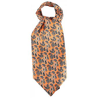 Knightsbridge Neckwear Paisley Silk Cravat - Orange