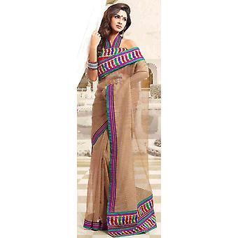 Amba Bollywood Designer partij dragen Indiase Sari saree buikdansen stof