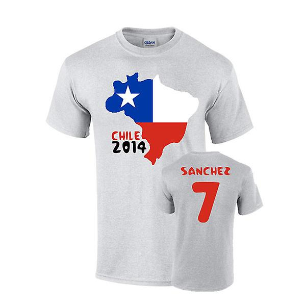 Chili 2014 land vlag T-shirt (sanchez 7)