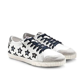 Ash Metallic Leather Majestic Trainers