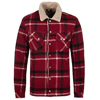 Nudie Jeans Co Lenny Wool Red Check Jacket