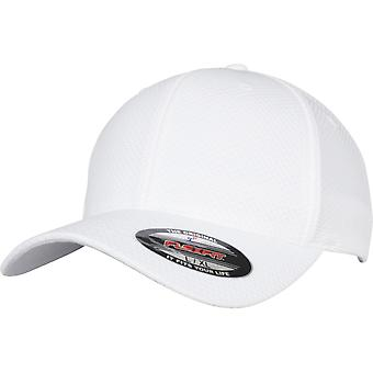 FLEXFIT 3D hvit Hexagon Jersey Cap-