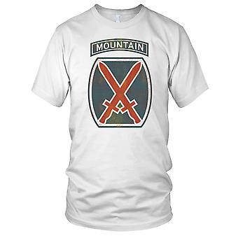 US Army 10th Mountain Division Grunge Ladies T Shirt