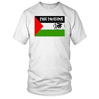 Freies Palästina-Flagge-Gaza-Mens-T-Shirt