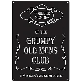 Grumpy Old Men Metal Wall Sign