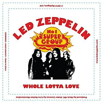 Led Zeppelin Fridge Magnet Whole Lotta Love new Official 76mm x 76mm