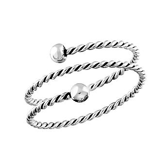 Double Twisted - 925 Sterling Silver Plain Rings - W32006X
