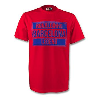 Ronaldinho Barcelona Legend Tee (red) - Kids