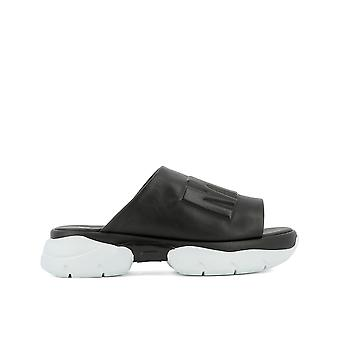Msgm women's 2241MDS26050 black leather sandals