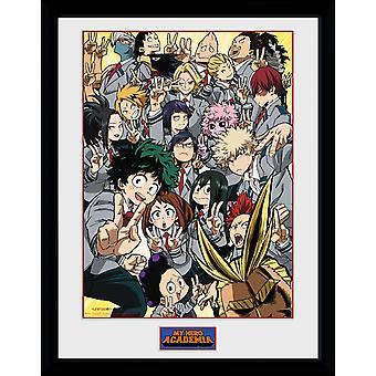 My Hero Academia School Group Framed Collector Print 40x30cm