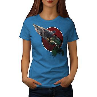 Shark Beast Wild Animal Women Royal BlueT-shirt | Wellcoda