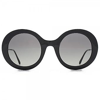 Giorgio Armani Super Round Sunglasses In Black