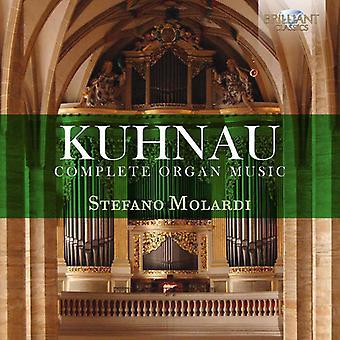 Stefano Molardi - Kuhnau: Complete Organ Music [CD] USA import