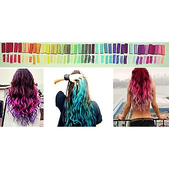 MasterChalk - 44pcs Professional Temporary Hair Chalk DIY Kit 36 Pastel and Bright Colours Non-Toxic Soft Hair Dye (washable) 2 No-mess Chalk Application Hair Color Combs 100ml Spray Mist Bottle Reusable Soft Gloves Hair Coloring Comb + Free Ideas Booklet