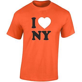 I Love NY New York Heren T-Shirt 10 kleuren (S-3XL) door swagwear