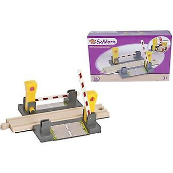Eichhorn Wooden train set Level crossing 100001506