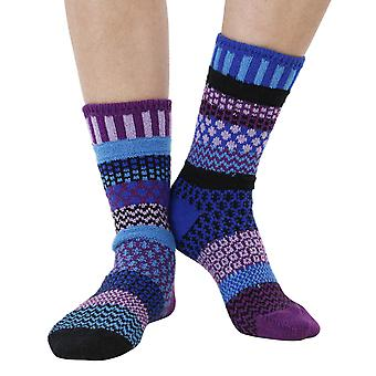 Raspberry recycled cotton multicolour odd-socks | Crafted by Solmate
