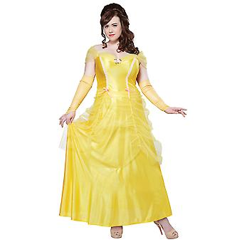 Classic Beauty And The Beast Belle Disney Princess Womens Costume Plus