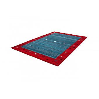 Flat pile rug modern rugs borders style blue red modern