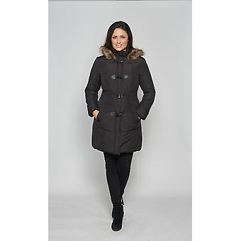 Damen warm gefütterte Parka Mantel David Barry DB3759