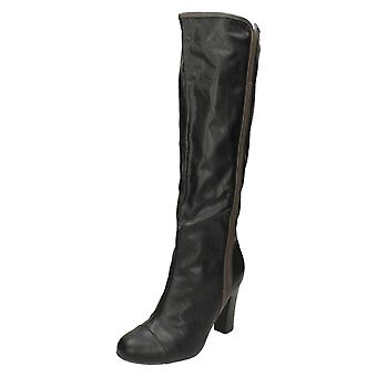 Ladies Coco High Heel Knee Length Boots L9326