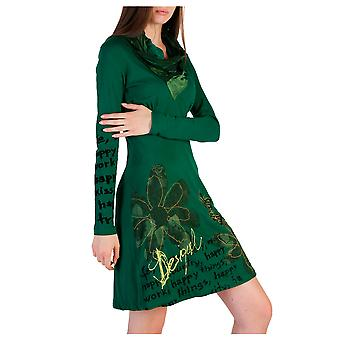 Desigual Women Dresses Green
