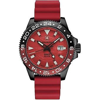 Swiss military mens watch GMT Nero scuba 27781