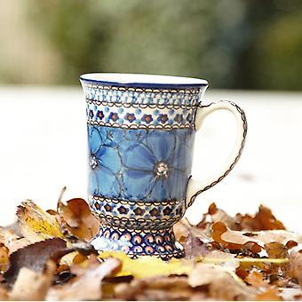 Cups with feet 4, 250 ml vol., 12 cm high, polish pottery - BSN 1368