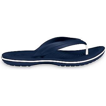 Crocs Mens Crocband Flip Croslite Flip Flop Sandal Navy