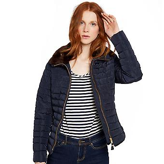 Joules Womens/Ladies Gosfield Fur Trimmed Padded Short Jacket