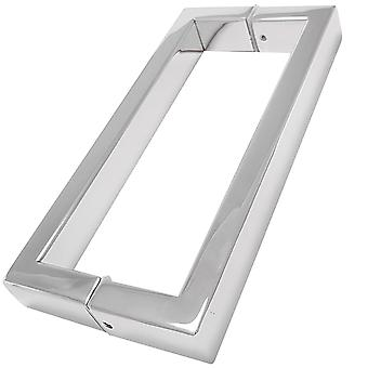 256mm Shower Door Handles (25.6cm Hole to Hole) - Stainless Steel