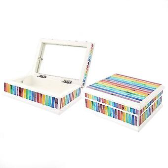 Something Different Mosaic Rainbow Jewellery Box