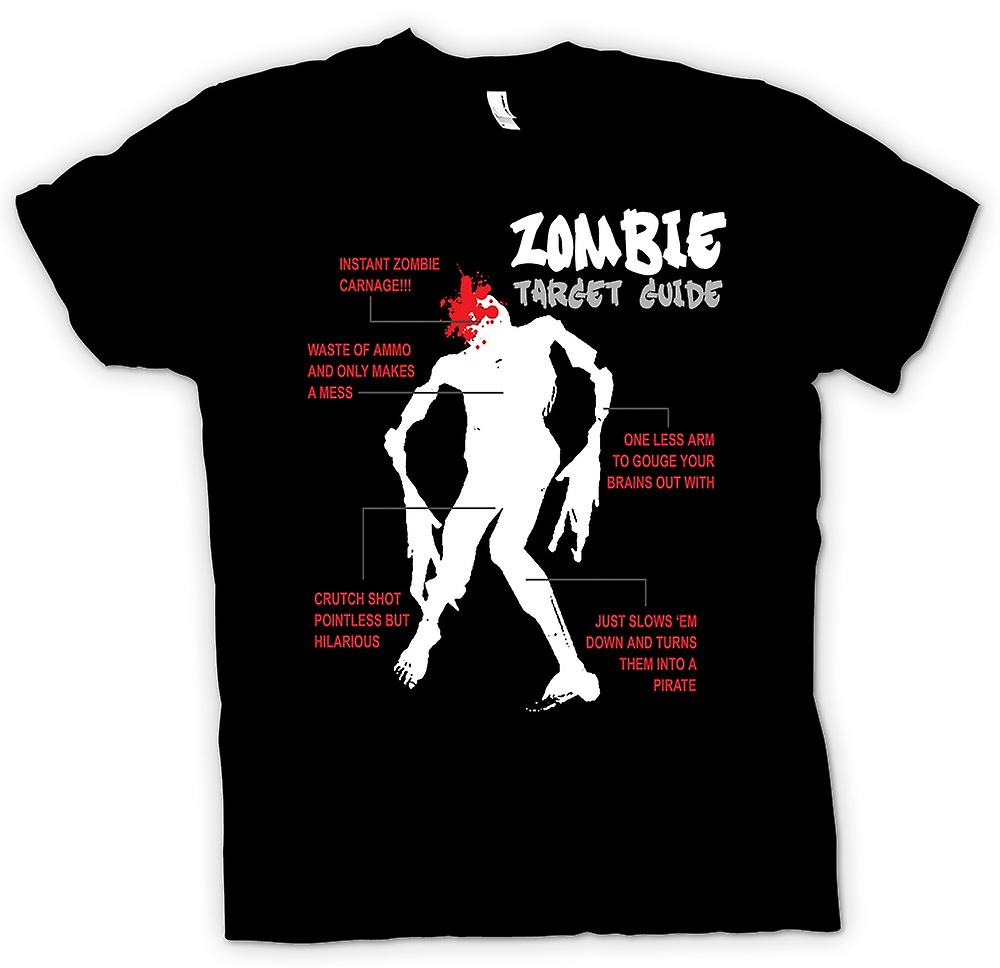 Womens T-shirt - Zombie mål Guide - rolig