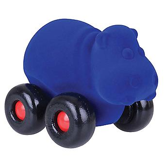 Rubbabu Aniwheelies Hippo (Blue)