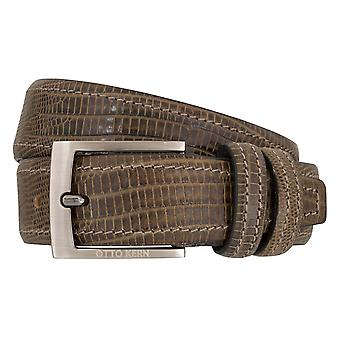 OTTO KERN belts men's belts leather belt reptile optic mud/Brown 7012