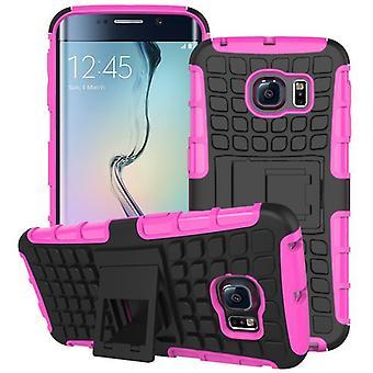 Hybrid case 2 piece SWL robot pink Samsung Galaxy S6 edge plus SM G928 F