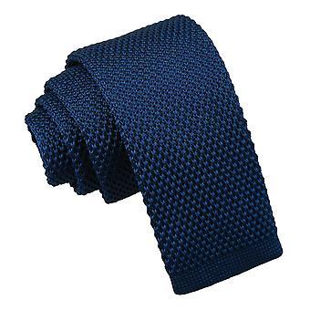 Marineblå strikkede slips til drenge