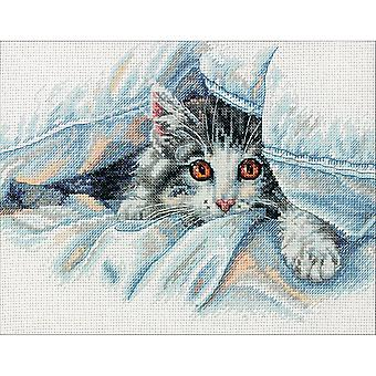 Cat Comfort Counted Cross Stitch Kit-10
