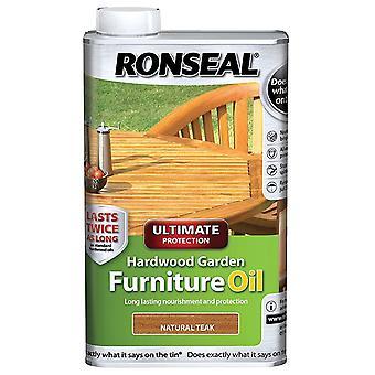 Ronseal 1 liter ultieme bescherming hardhout tuin meubilair olie - Teak