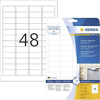 Herma 9531 Labels 45.7 x 21.2 mm PE film White