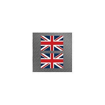 Union Jack Wear TWO Union Jack Stickers  6.5 X 4.5 Cm
