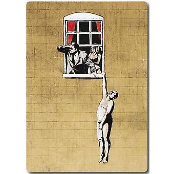 Banksy Lover Hanging From Window Fridge Magnet