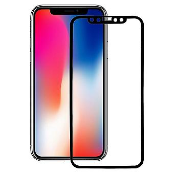 Apple iPhone X 3D armoured glass foil display 9 H protective film covers case black