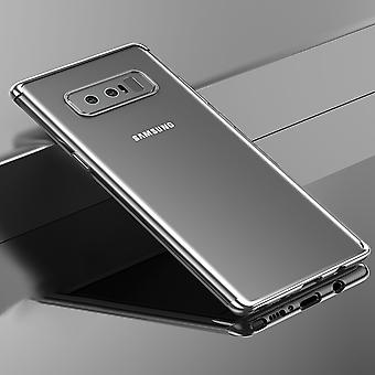 Cell phone cover case voor Samsung Galaxy touch 8 transparant transparante zilver